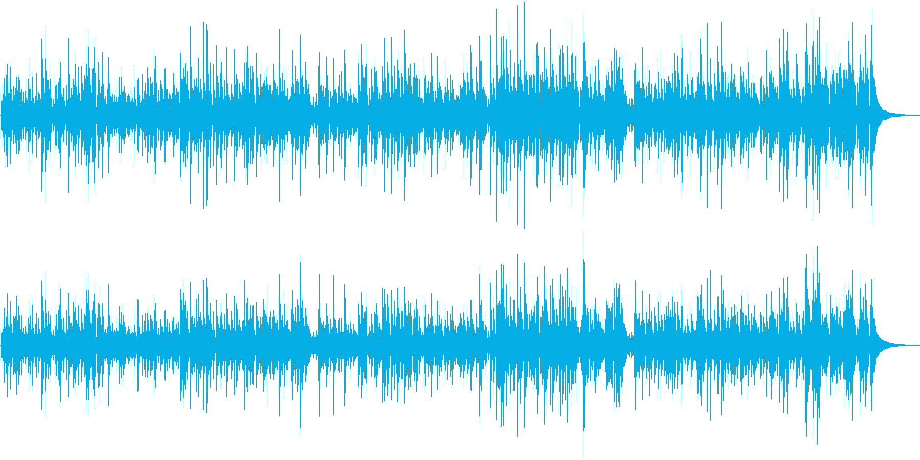 クラシックギターの癒し系サウンドの再生済みの波形