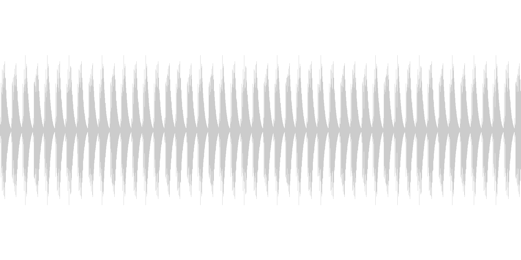 ゲージ・スコアカウント音(ピピピピピ)の未再生の波形