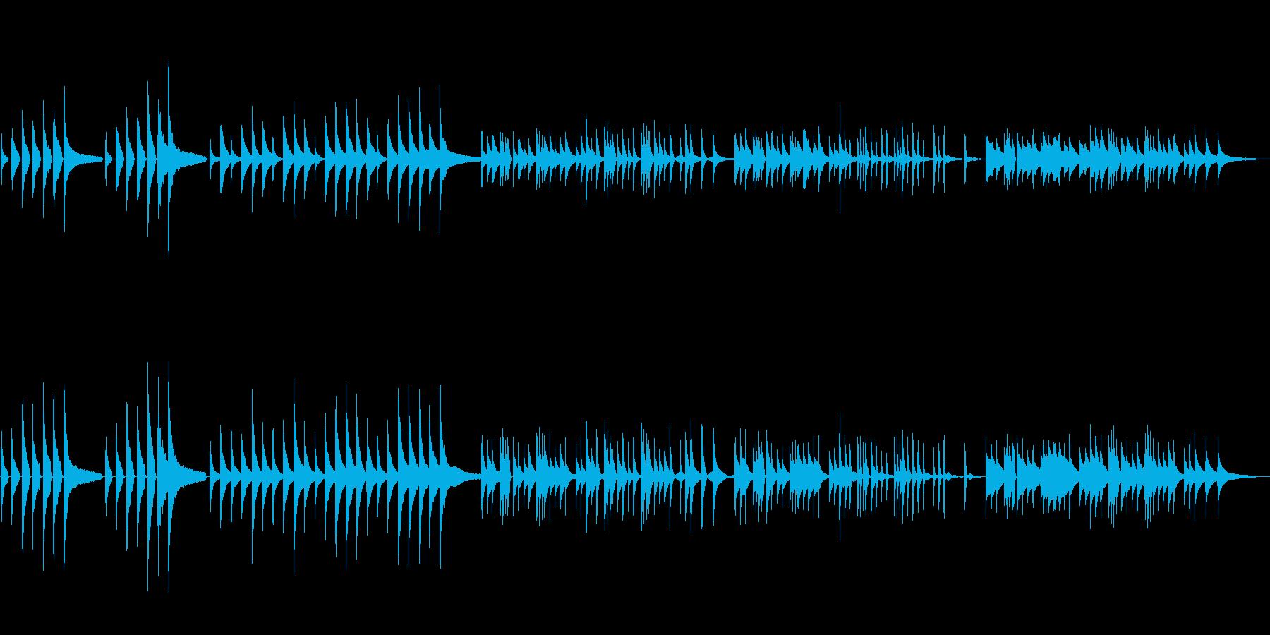 「波紋」美しく静かで不穏、ピアノソロの再生済みの波形
