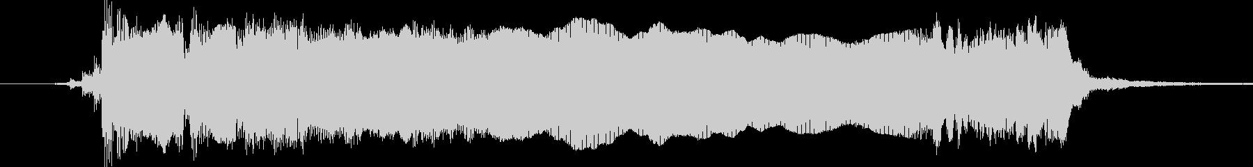 シンプルでロックなエレキギタージングル2の未再生の波形