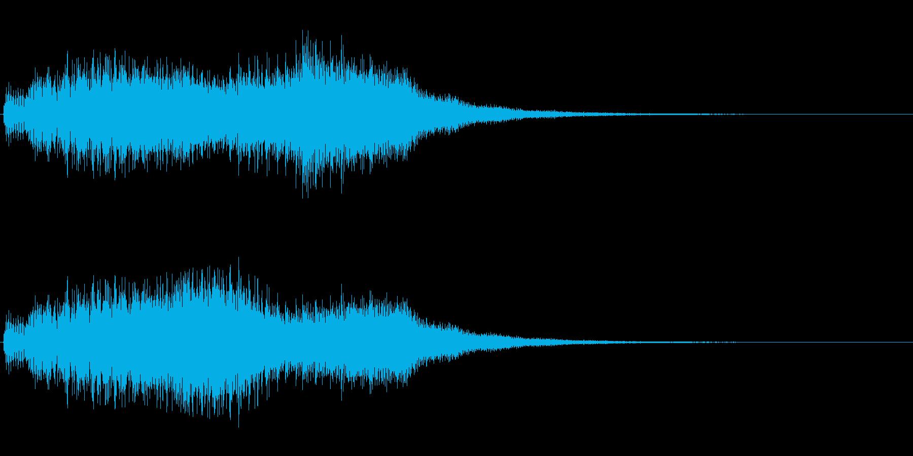 キュルルルン(透明感のある流星音)の再生済みの波形