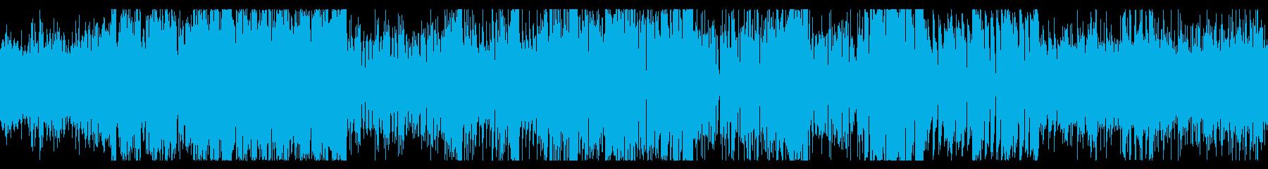 サイバーパンクな屋内にて ループBGMの再生済みの波形