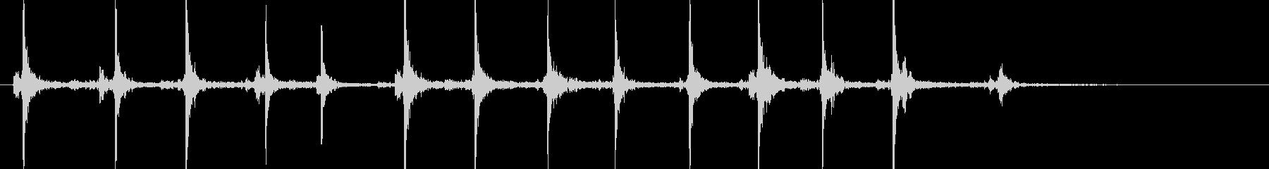 ルパン風タイプライター(長)の未再生の波形