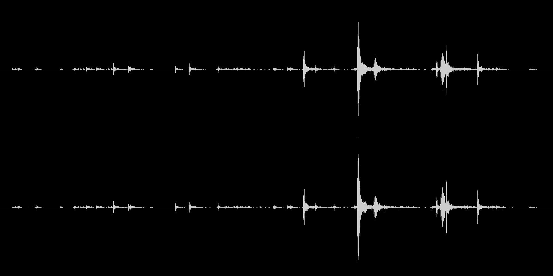 【生録音】弁当・惣菜パックの音 6の未再生の波形