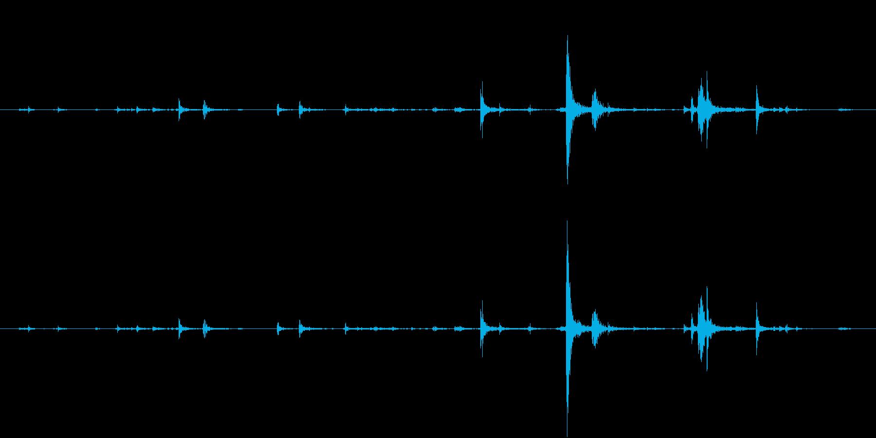 【生録音】弁当・惣菜パックの音 6の再生済みの波形