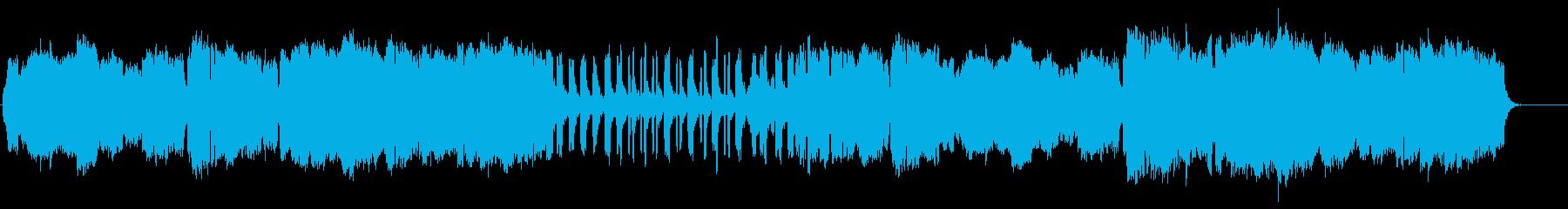 穏やかで優しいフルートオーケストラの再生済みの波形