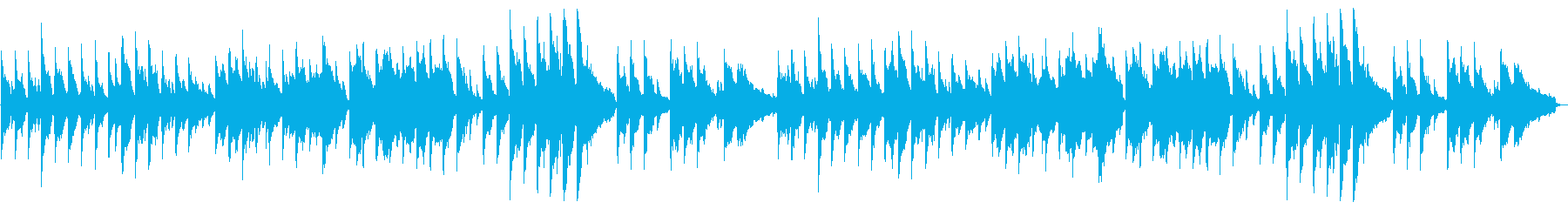 しっとりバラード、ピアノと弦の再生済みの波形