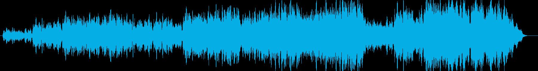 コーラスが中心の曲の再生済みの波形