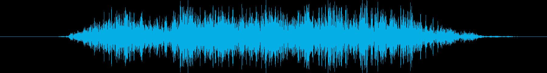 鳴き声 男性のささやきスペル04の再生済みの波形