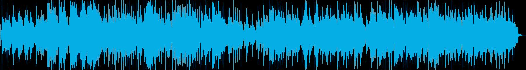 哀愁系和風BGMの再生済みの波形