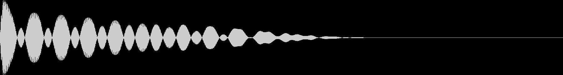 ピョイ(超音波/レーザー電子音/かわいいの未再生の波形