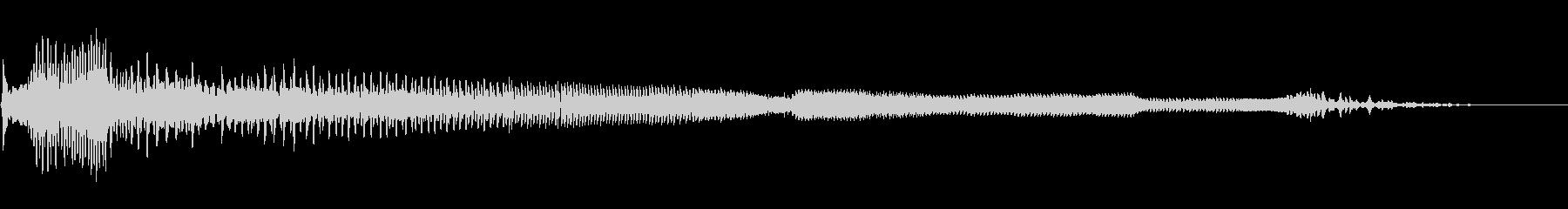 うぅうううの未再生の波形