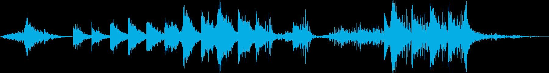 サスペンス、スパイ、怪しいエレクトロの再生済みの波形
