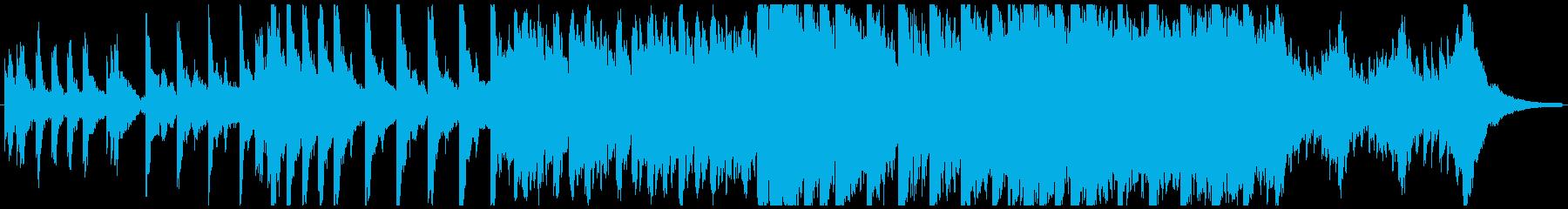 ハローウィン用のホラー曲-60秒の再生済みの波形