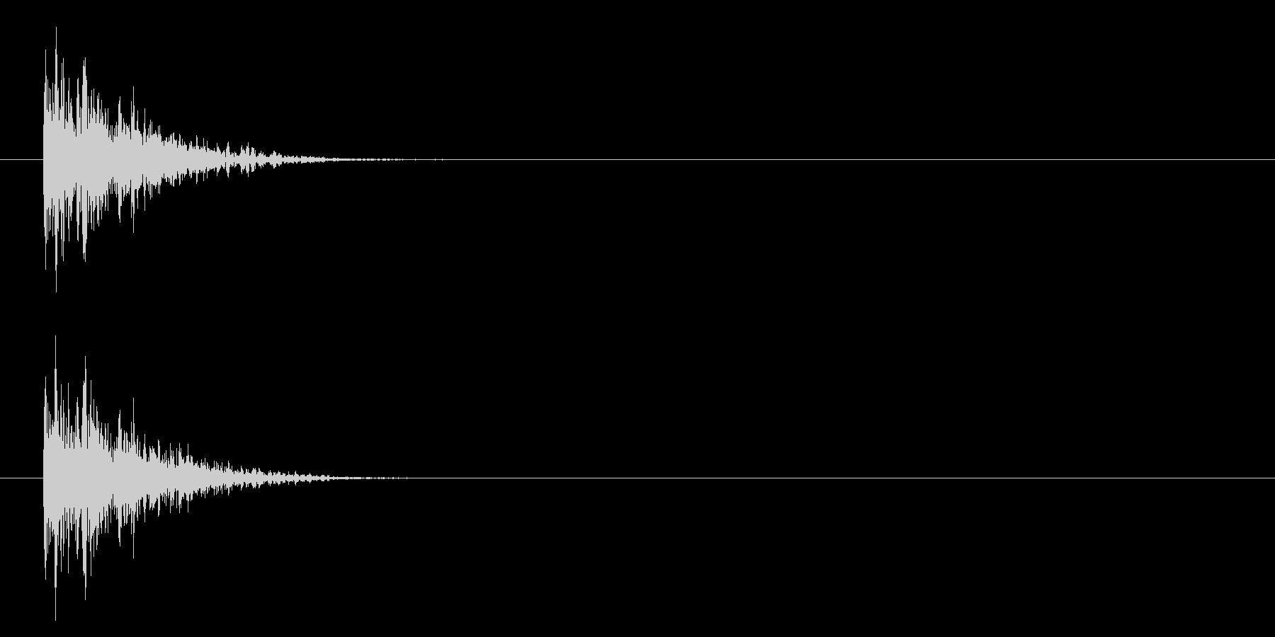 攻撃/ヒット/バンッ/物理/打撃/銃の未再生の波形