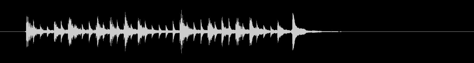 音が転がるようなシンセの曲の未再生の波形