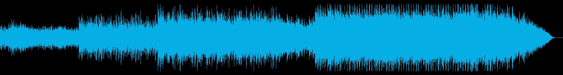 幻想的でキラキラなポップスの再生済みの波形