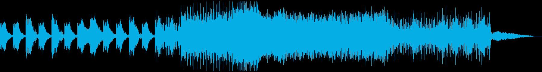 大作ホラー・ミステリ映画の予告編風BGMの再生済みの波形