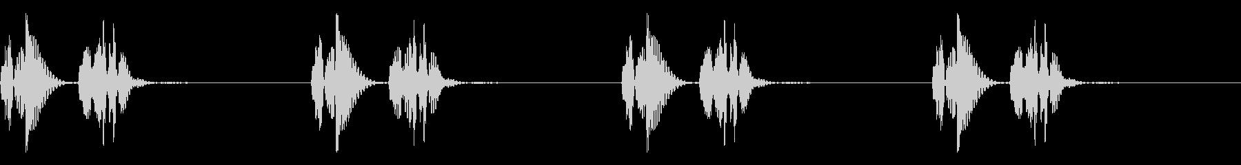 心臓の鼓動,心音の効果音,ドキドキ④の未再生の波形