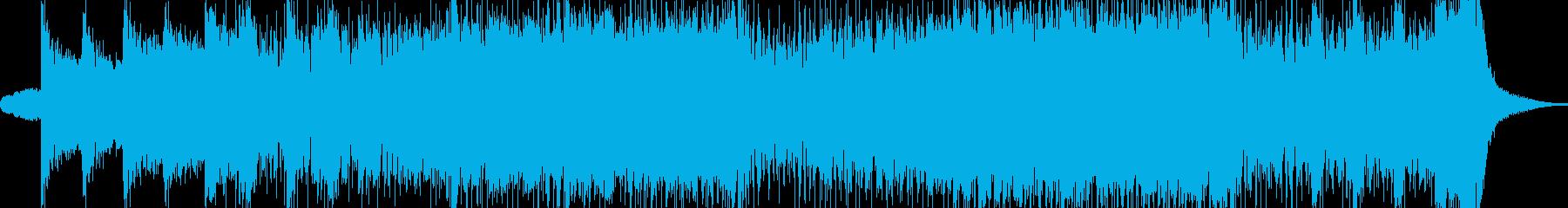 オーケストラで華麗な曲の再生済みの波形