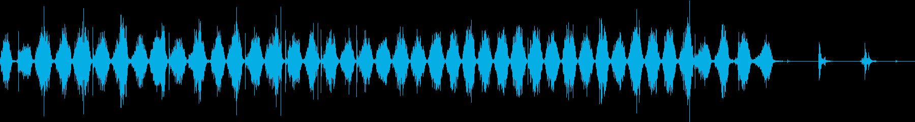 【生録音】ノコギリで物を切る音 2の再生済みの波形