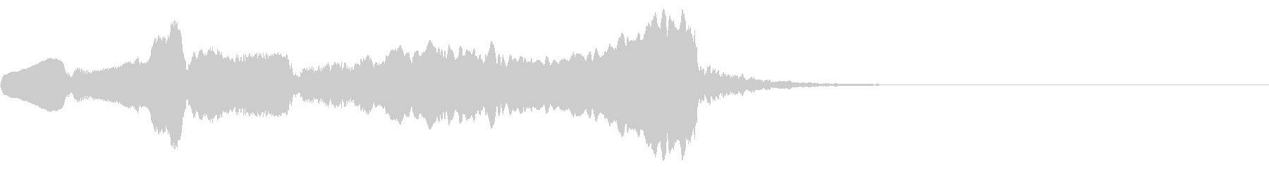 印象的な二胡のワンフレーズの未再生の波形