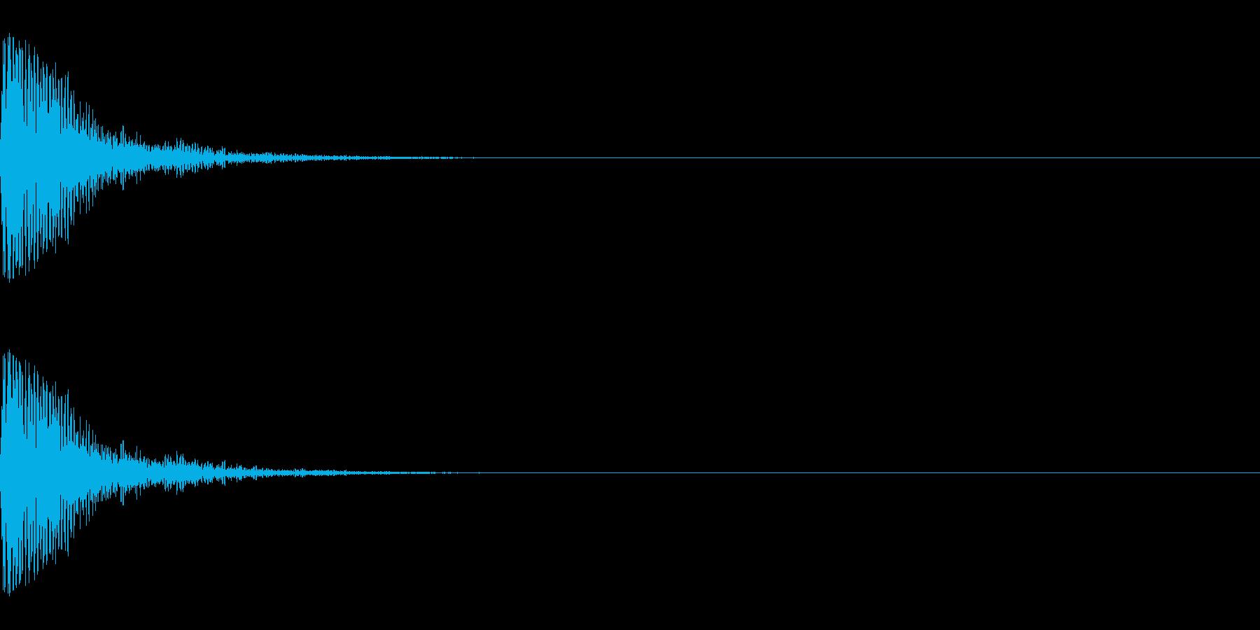 メープル材ドラムキット_スネア01の再生済みの波形