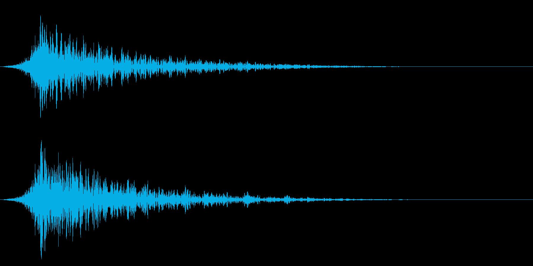 シュードーン-27-1(インパクト音)の再生済みの波形
