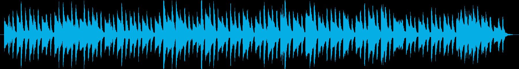 かわいい動物動画に合うトイピアノのワルツの再生済みの波形