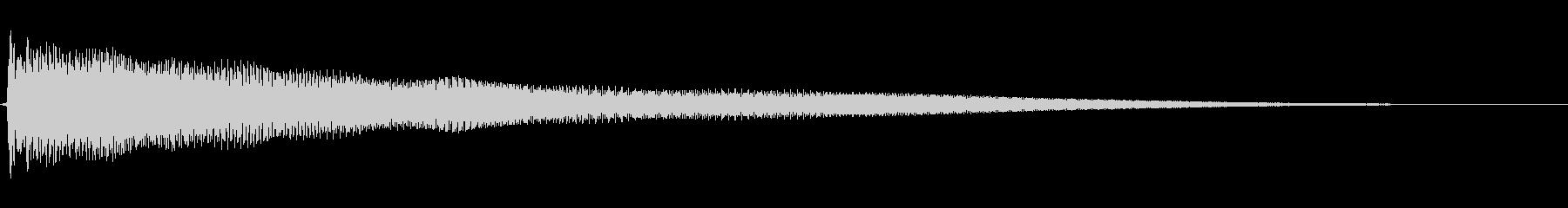 アコースティックギター二本 チャーンの未再生の波形