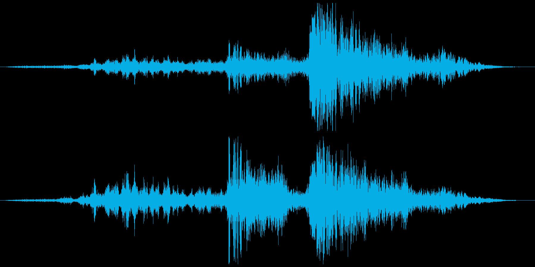 衝撃 空爆17の再生済みの波形
