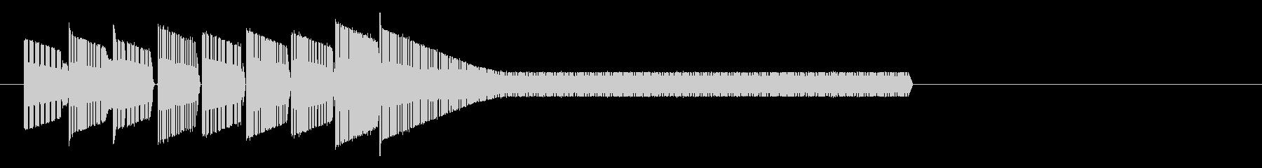 レトロゲーム風・中華風ジングル2の未再生の波形
