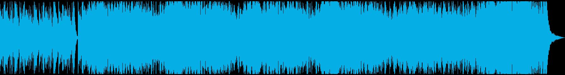 何かに突き進む印象を想起させる曲の再生済みの波形