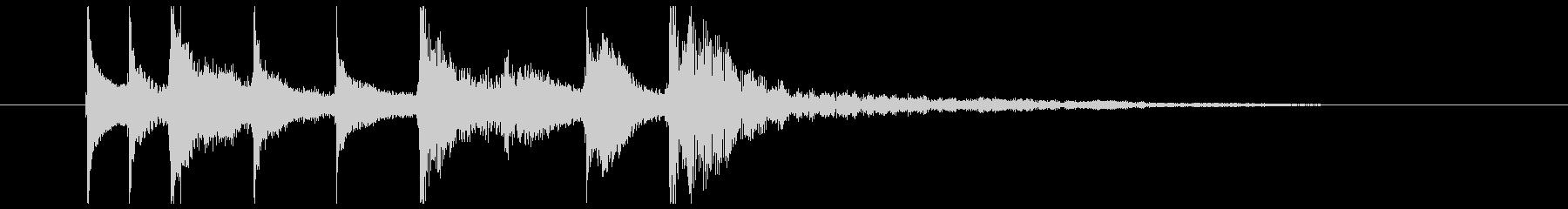 サウンドロゴ、ジングル#7の未再生の波形