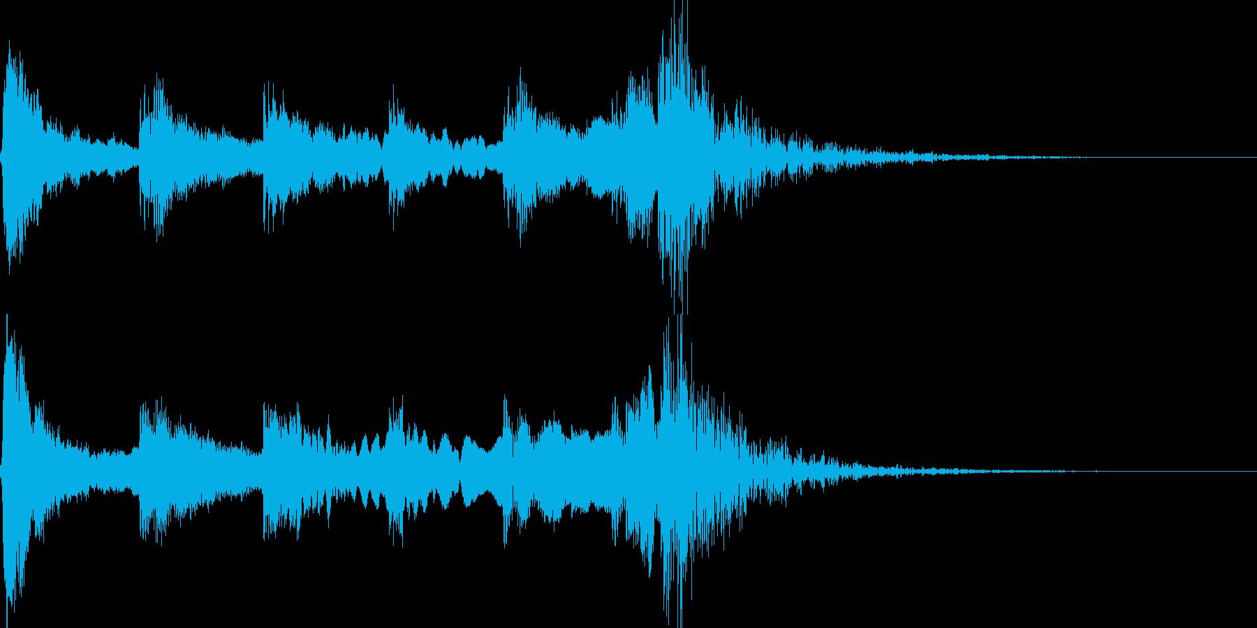 歌舞伎の太鼓/笛/鼓/和風ジングル!11の再生済みの波形