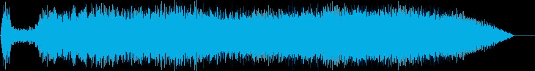 パワーアップ;大きな風洞をクリック...の再生済みの波形