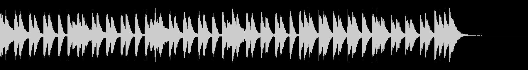 華やかで疾走感のあるピアノジングルの未再生の波形