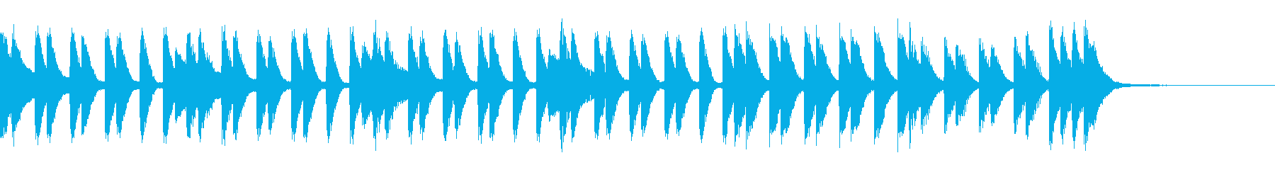 華やかで疾走感のあるピアノジングルの再生済みの波形