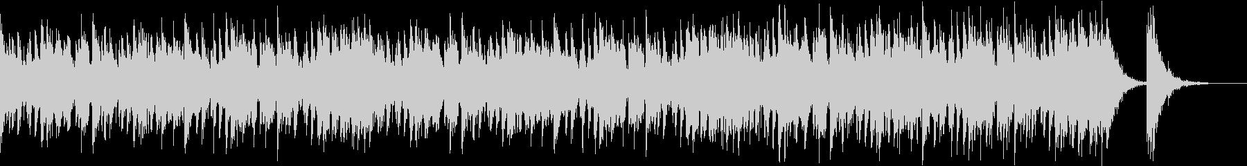 アップテンポで渋く激しい和太鼓+三味線の未再生の波形