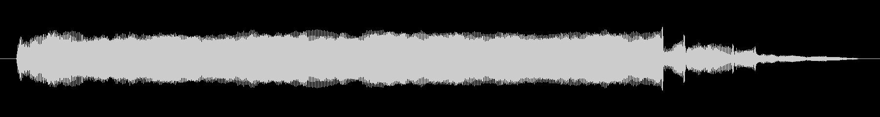 シンセサイザー 金属オルガン02の未再生の波形