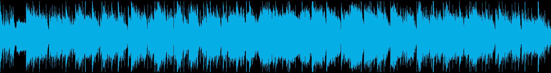 のどかで平和、幻想的な和風曲 ※ループ版の再生済みの波形