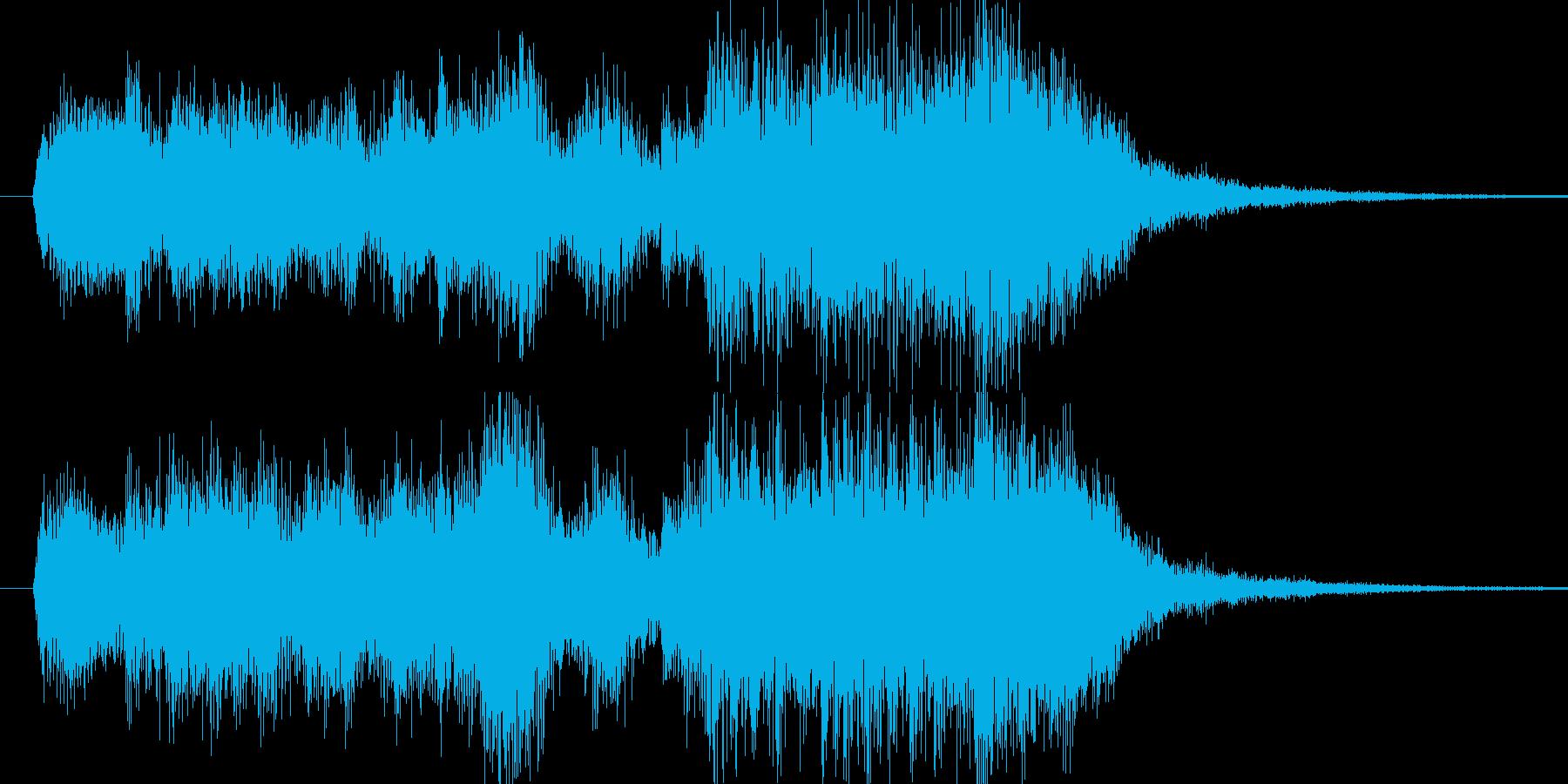 RPGの戦闘勝利風のファンファーレの再生済みの波形