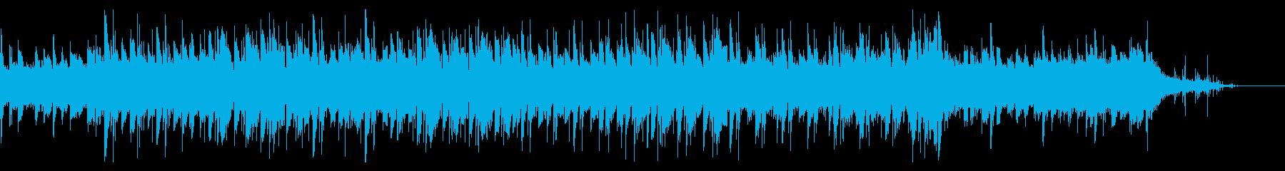 海底感のふわふわとしたコーラスの入った曲の再生済みの波形