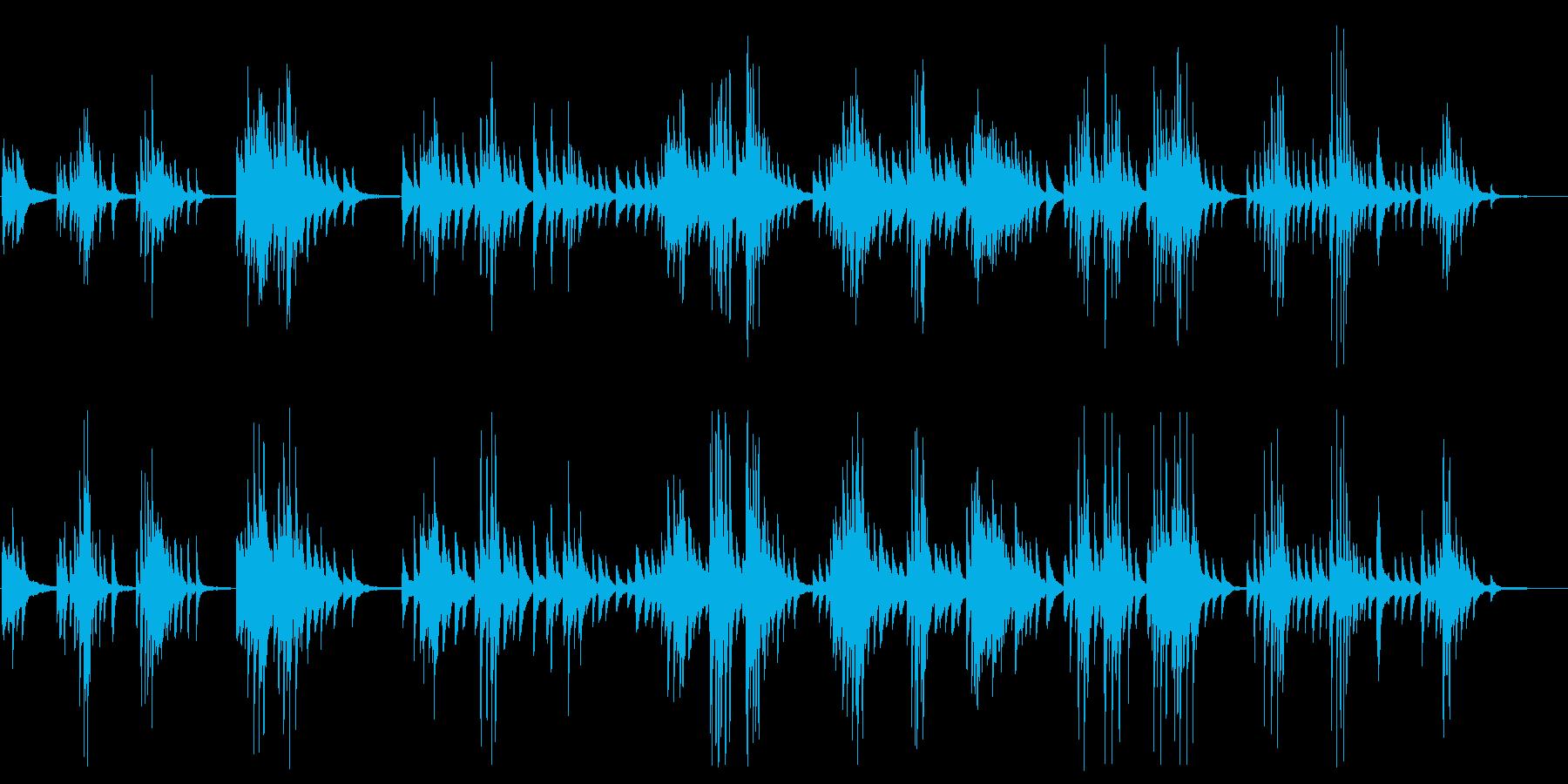 ミステリアスで大人なピアノメロディーの再生済みの波形
