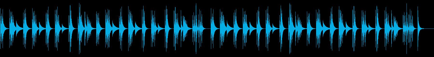 コミカルでネガティブな木琴の劇伴風の再生済みの波形