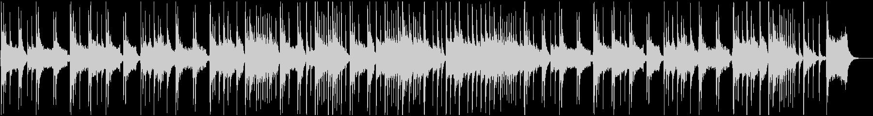 尺八と琴が奏でる風情溢れるBGMの未再生の波形