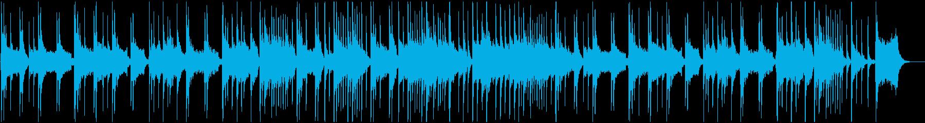 尺八と琴が奏でる風情溢れるBGMの再生済みの波形