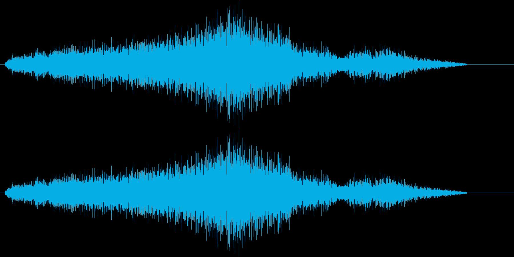 車の通り過ぎる音(ブオーン)の再生済みの波形