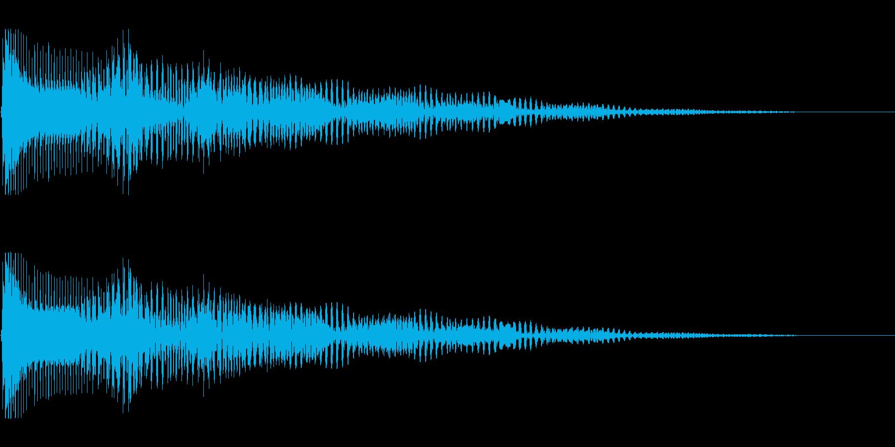 ボヨヨーン 口琴の再生済みの波形
