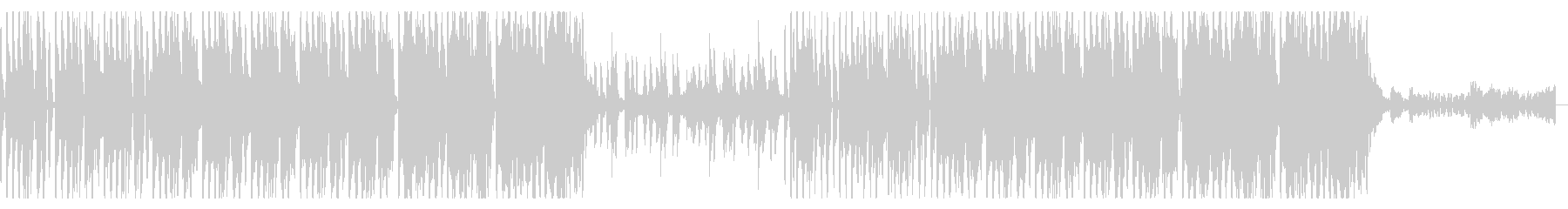 ダンサブルなエレクトロディスコ曲の未再生の波形